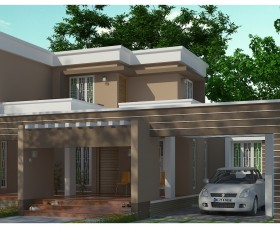 Latest Kerala Contemporary House designs plans