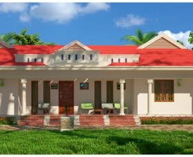 1705 Sq ft low cost plan & elevation designs for traditional homes in kerala