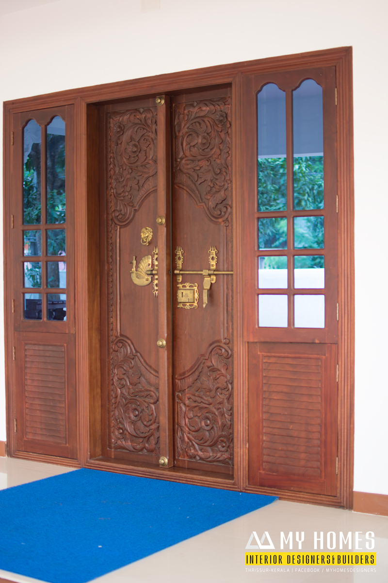Front doors kerala style images for Front door design photos