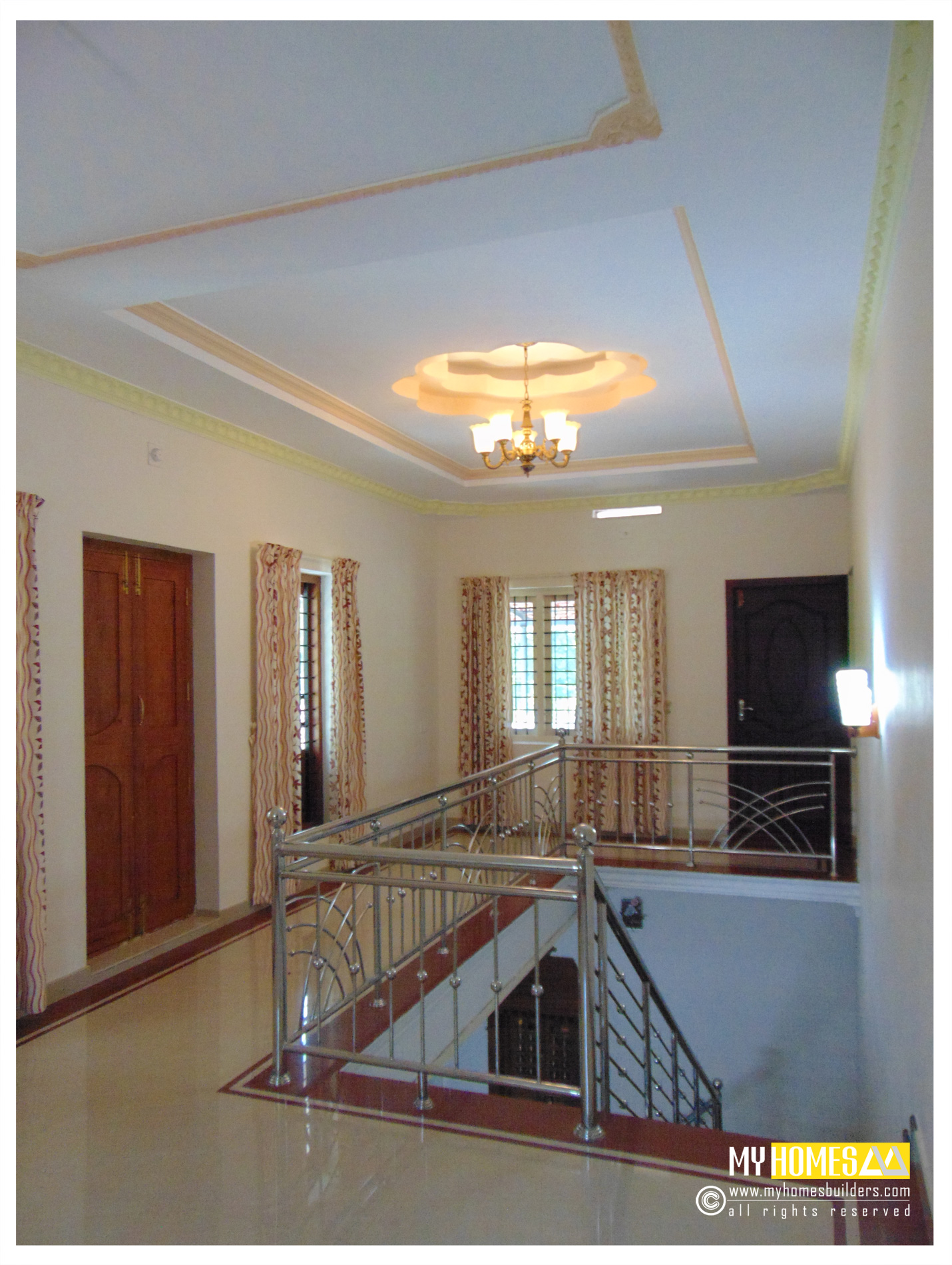 Top quality staircase design in kerala from my homes thrissur Low cost interior design for homes in kerala