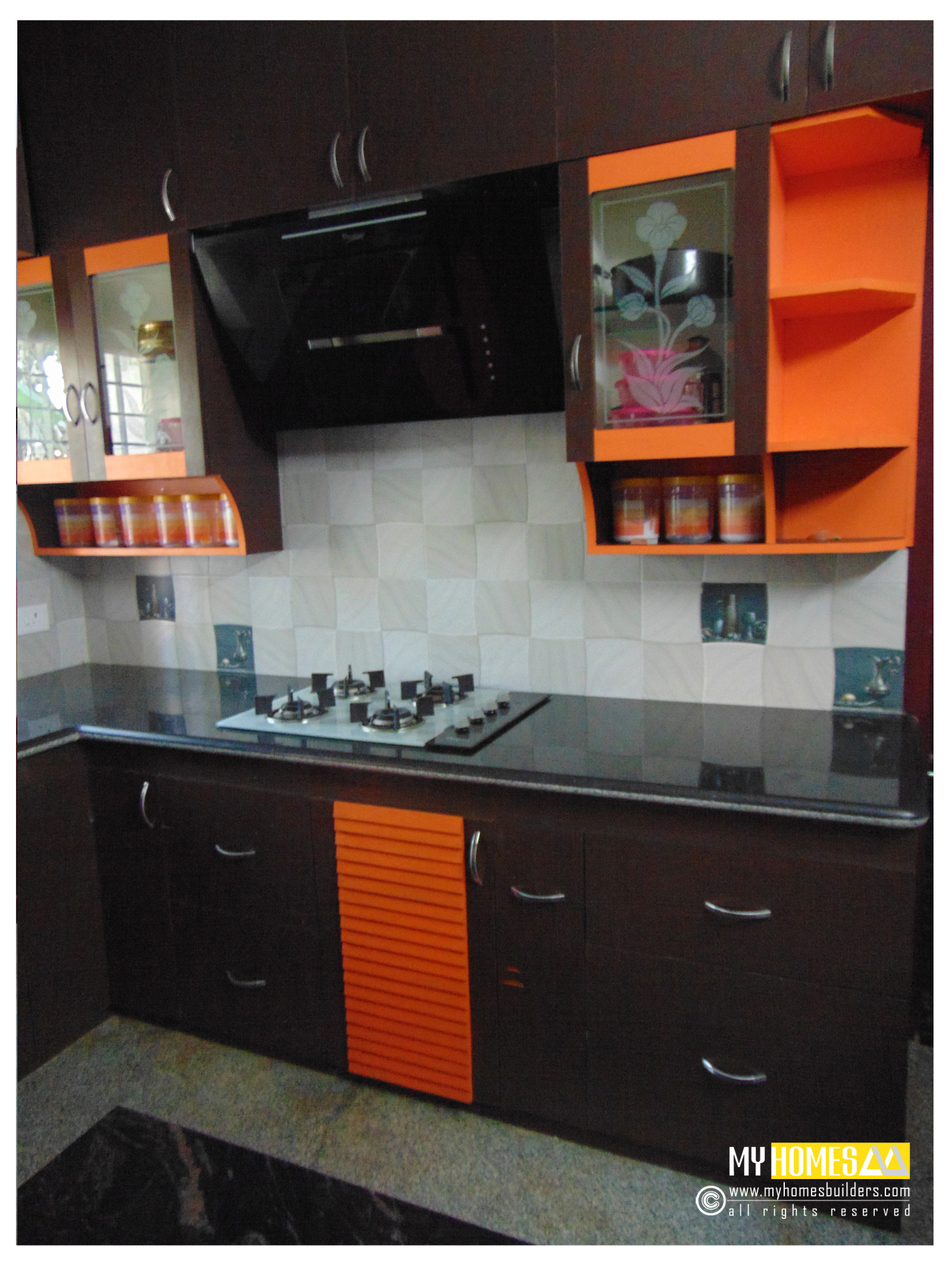 Kerala kitchen designs idea in modular style for house in for Modern kitchen designs in kerala
