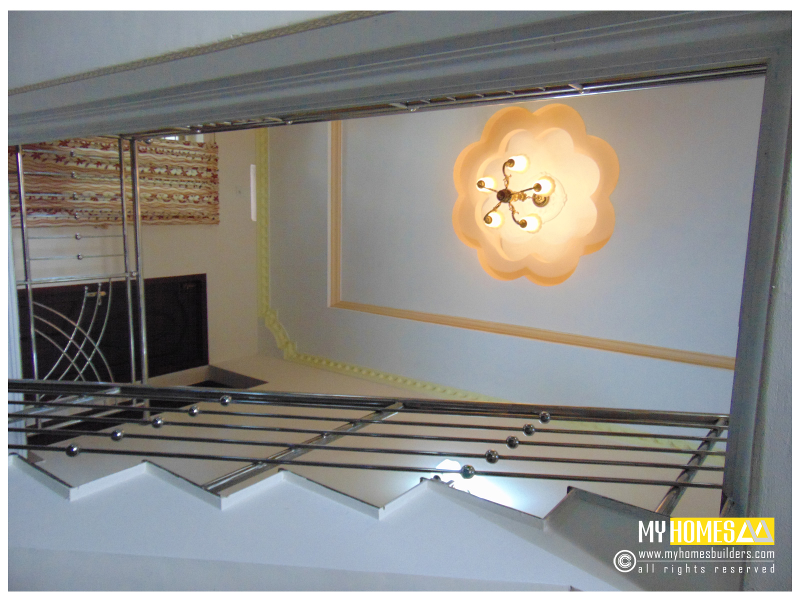 kerala homes staircase designs, kerala homes designs, staircase interior, staircase interior designs ideas