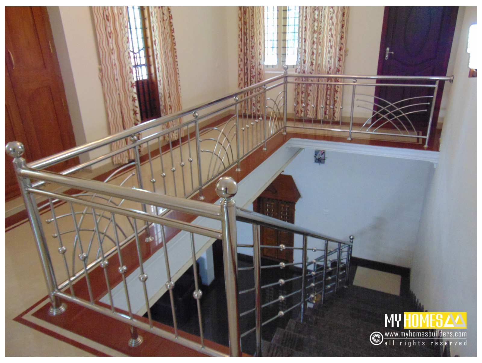 Idea for homes staircase designs kerala Inside staircase in houses