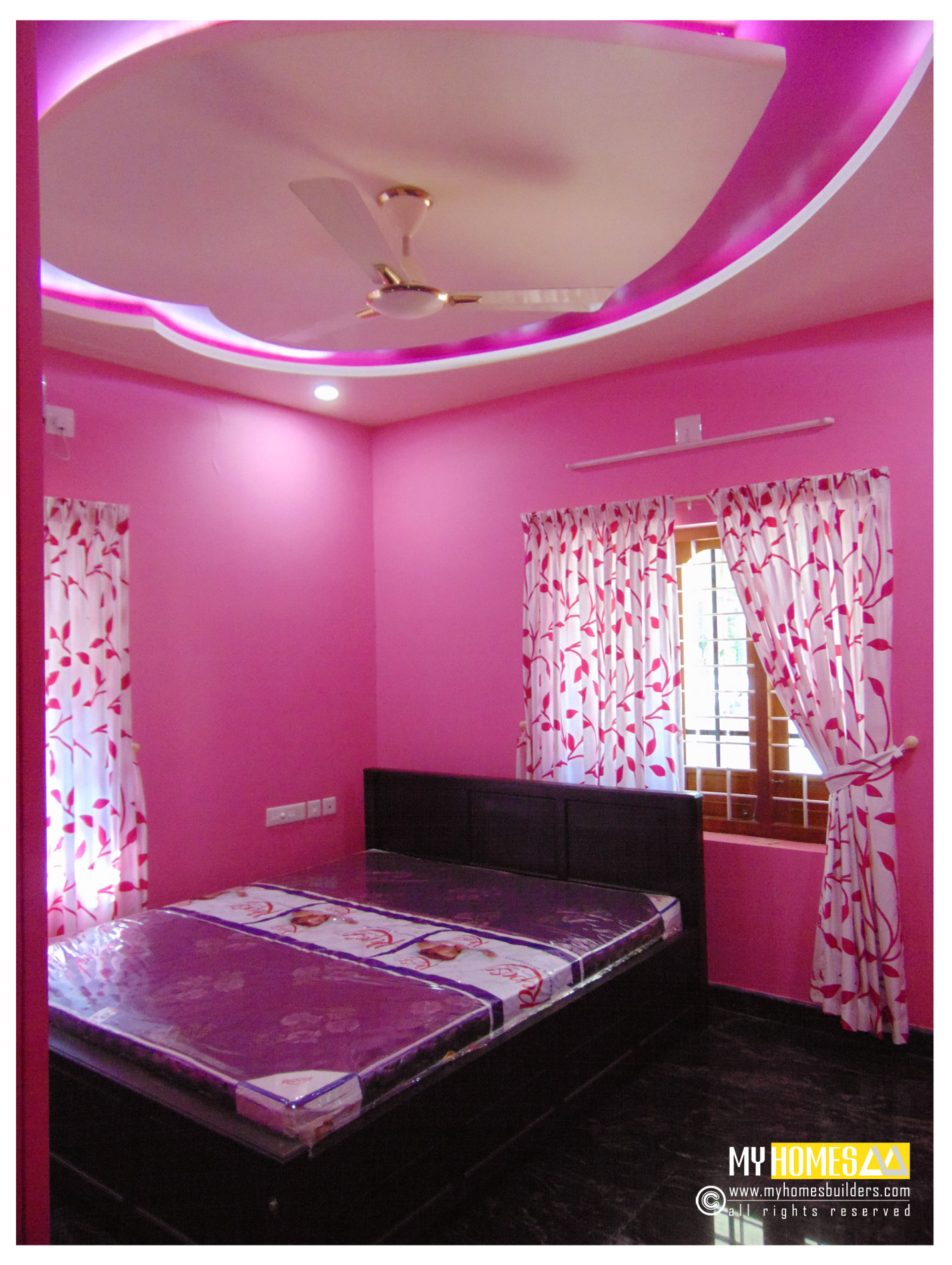 Simple style kerala bedroom designs ideas for home interior for Latest model bed design