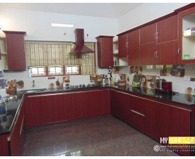 modern homes kitchen design kerala
