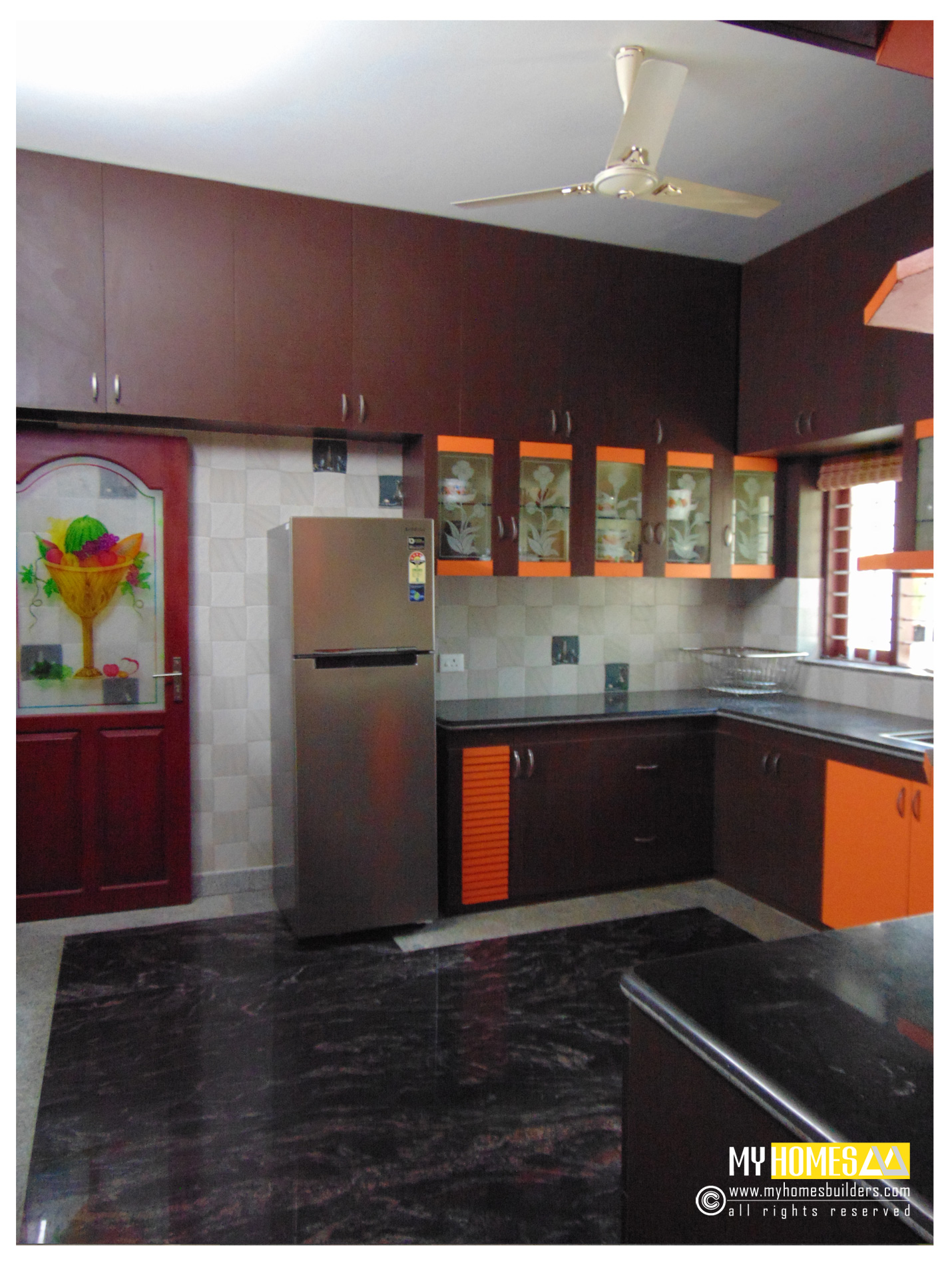 Kerala kitchen designs idea in modular style for house in for New house kitchen ideas