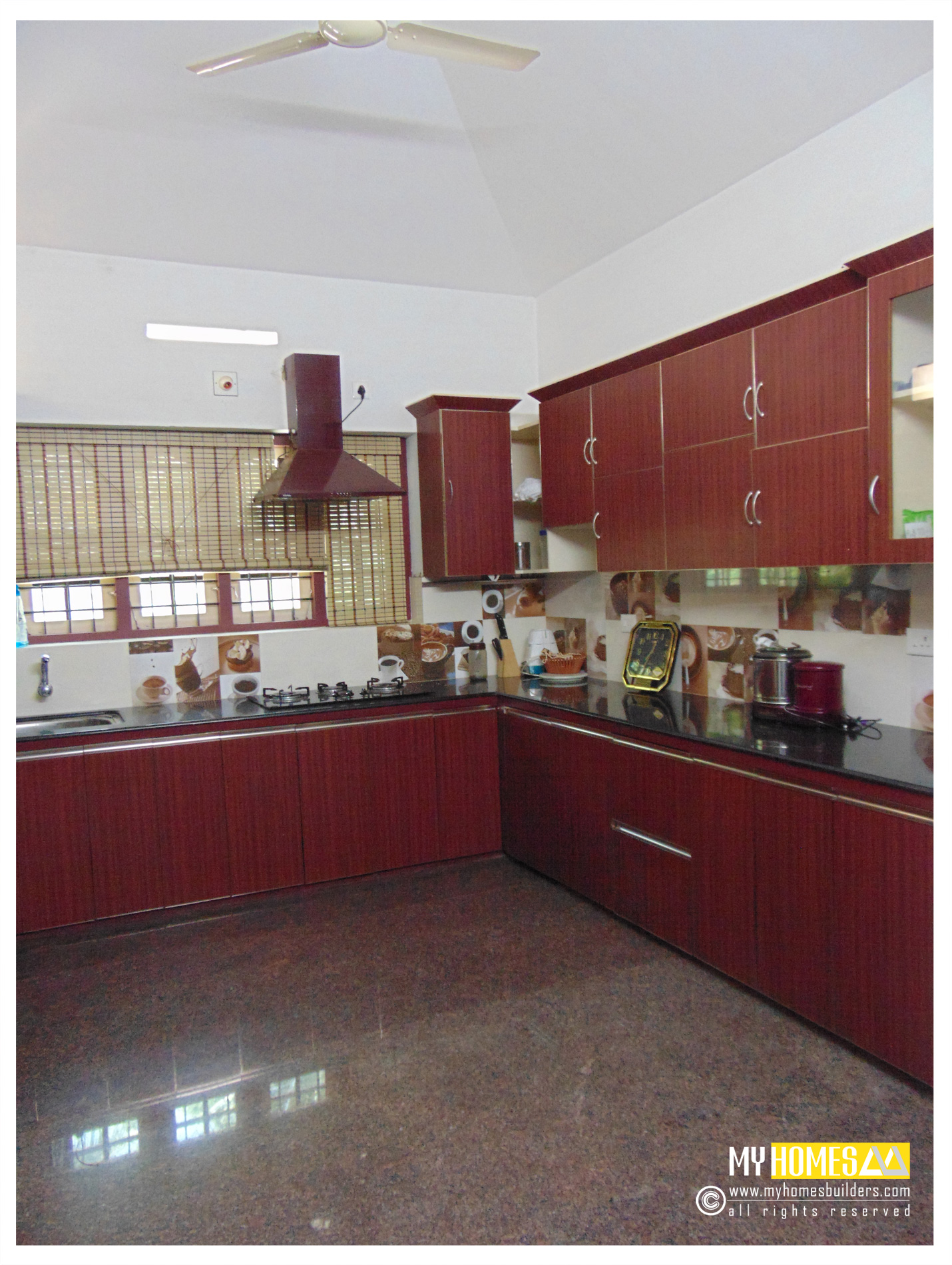 Latest kitchen design kerala in modular inteior designing for Latest interior design for kitchen