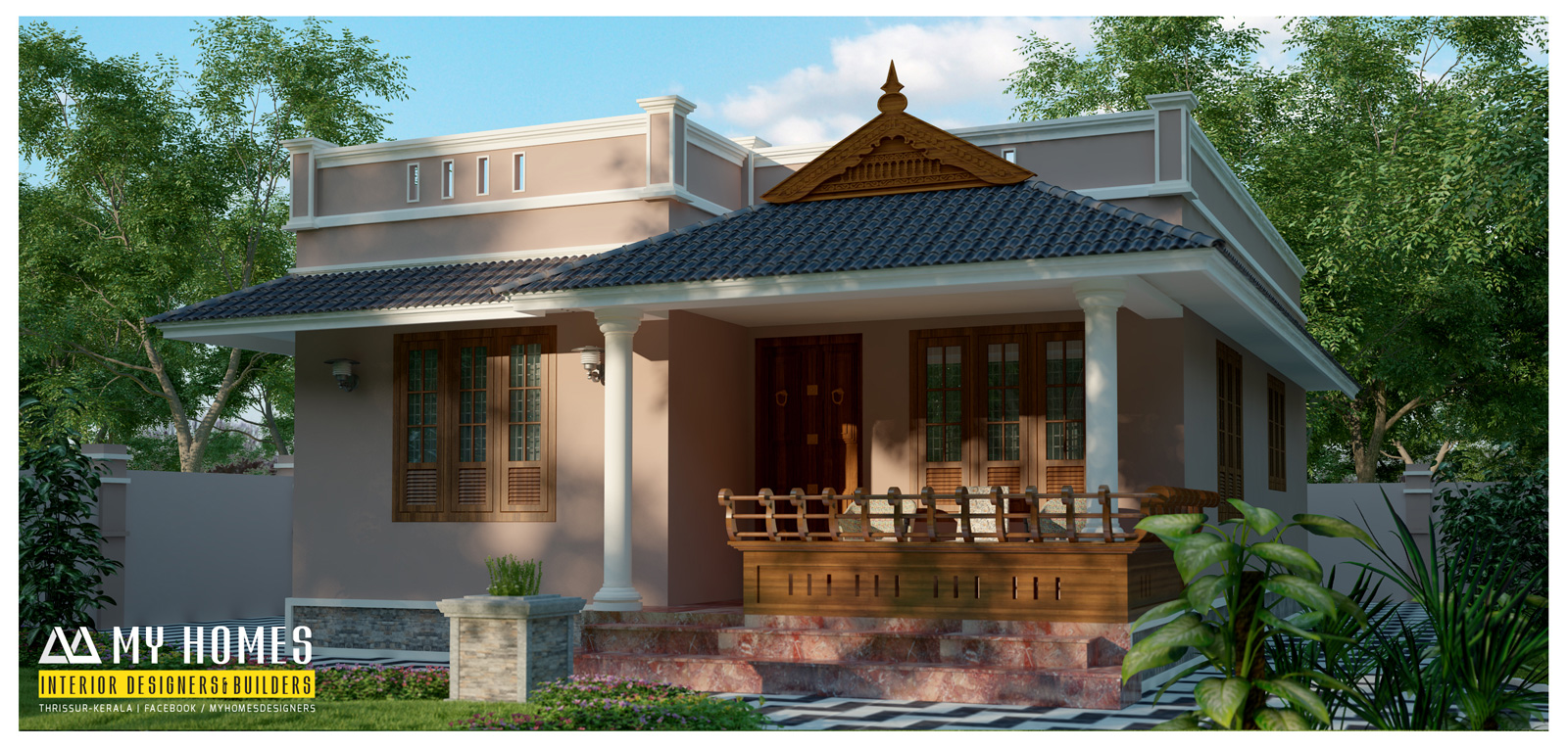 Low budget houses in kerala from my homes designers thrissur for Home plans designs kerala