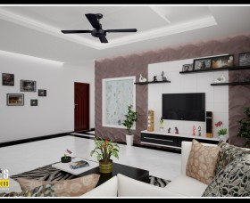 Latest trends living room designs in kerala india