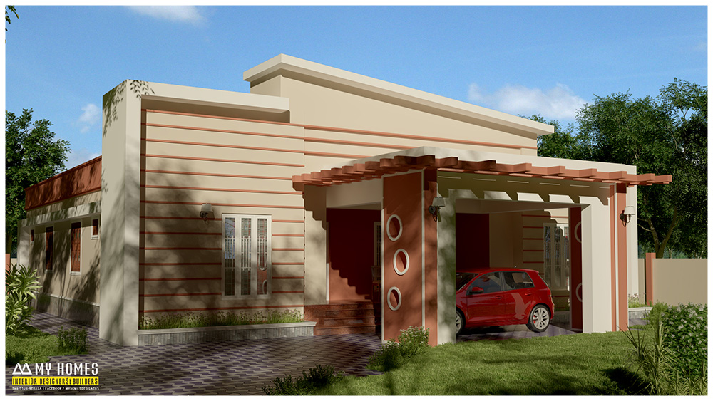 3 bedroom kerala house plan in low price designs style kerala Low budget house plans