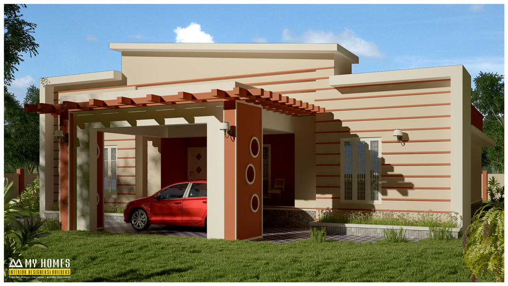 Low budget home designs and modern house plan in kerala Low budget house plans