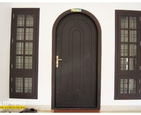 main front door designs in Kerala antique styles