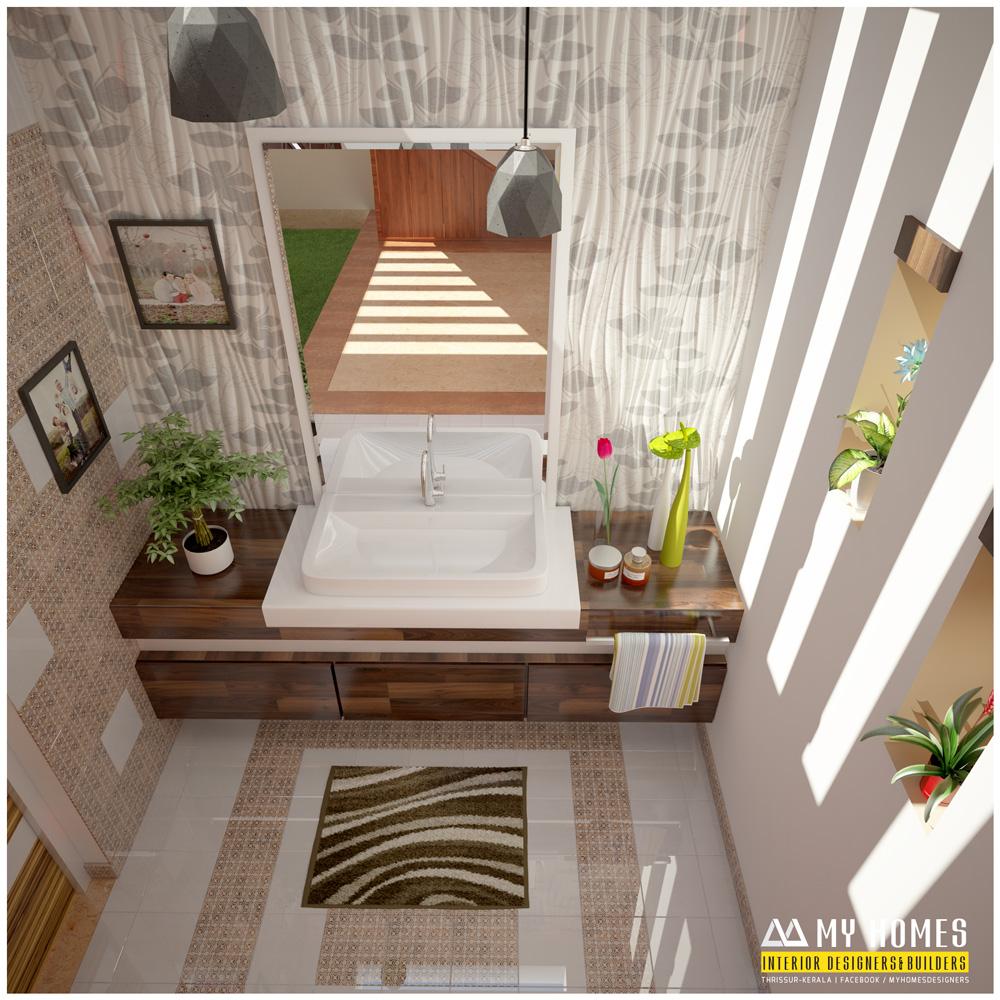 Kerala Home Interior: Interior Ideas For Small Wash Basin Designs Kerala