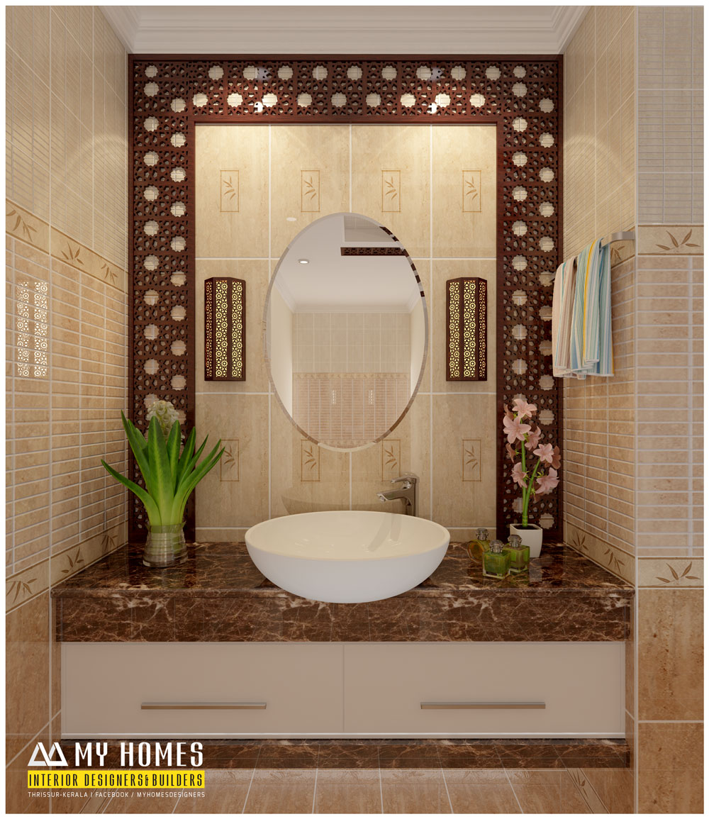 Kerala homes designs and plans photos website kerala india for Bathroom interior design kerala