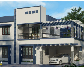 kerala contemporary house designs  in lowest cost