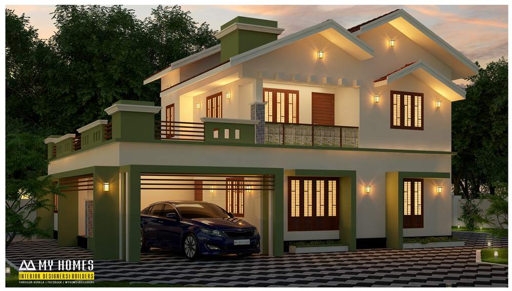 kerala modern home design