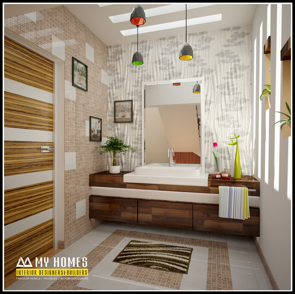 Kerala style bathroom designs for Kerala interior designs