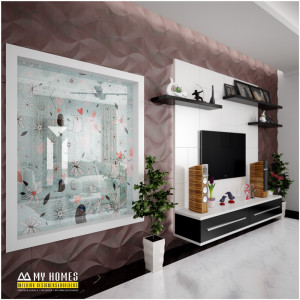 living room interior design in kerala