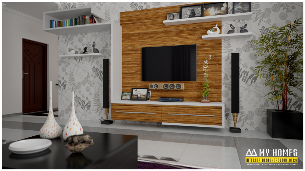 Living room kerala style for Kerala home living room designs