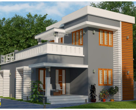 3 bedroom low budget modern house kerala within 1400 sqft