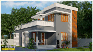 low budget modern house kerala