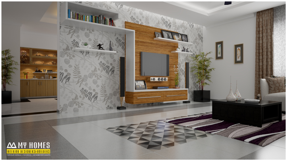 Simple living room designs in kerala for Simple living room interior design photos