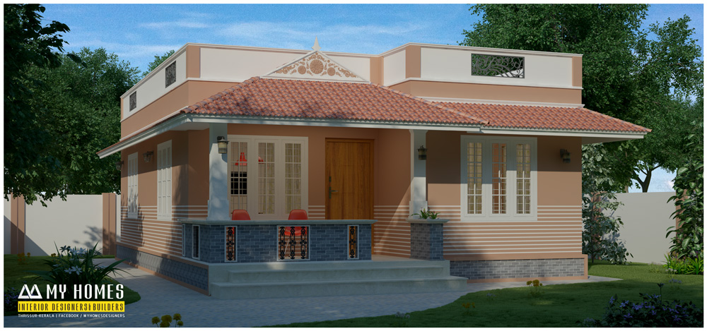 House plans in kerala low budget the for Colonial style home design in kerala
