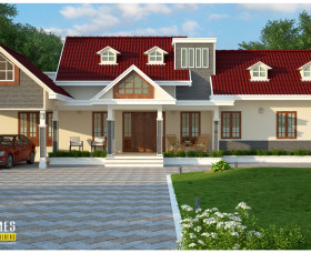 Traditional style kerala home designs