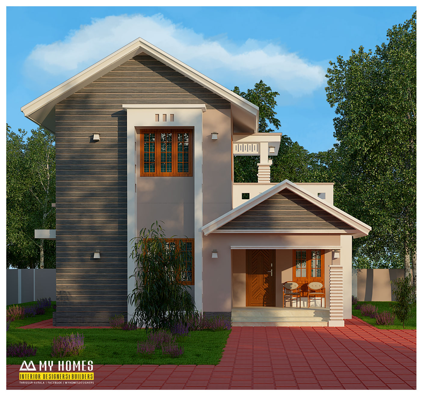Homes on a budget home design for Small budget house plans in kerala
