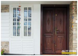 front wood door design kerala