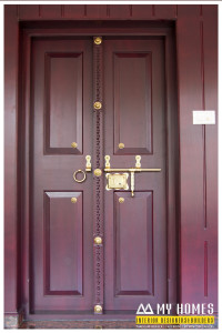 kerala house front single door-designs