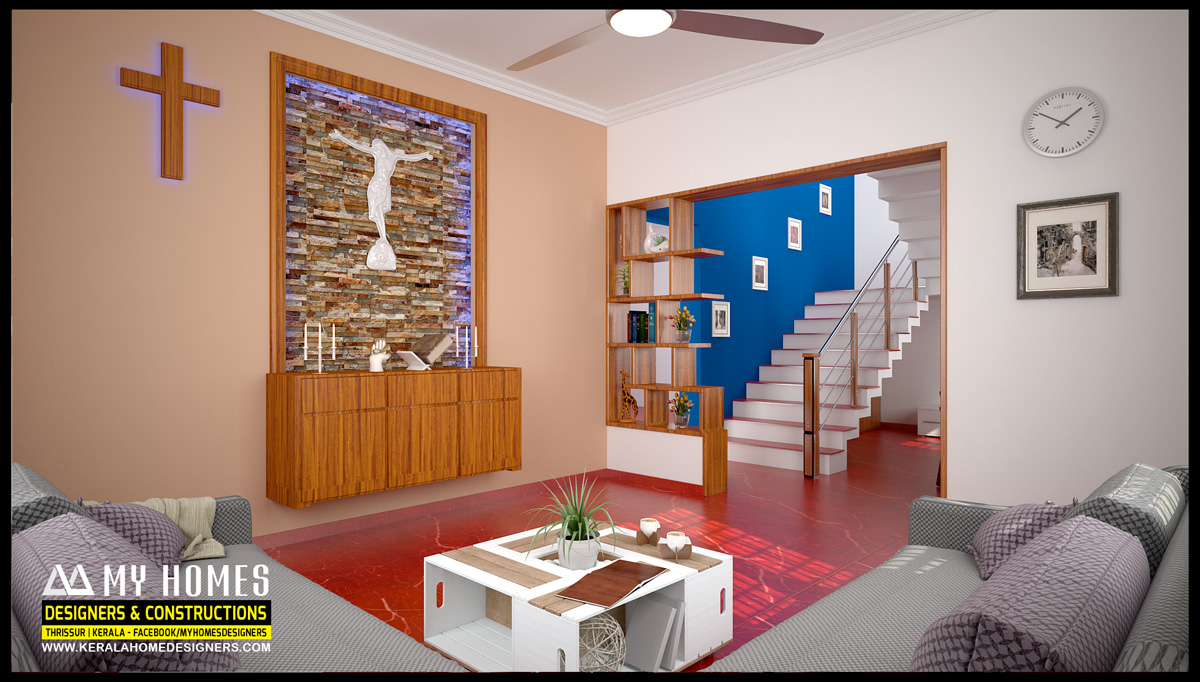 Kerala living room interiors designs and idea for dream homes for Living room interior in kerala