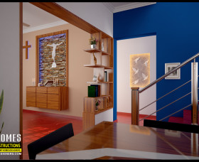 kerala style christian prayer room area design