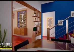 kerala style christian prayer room area design