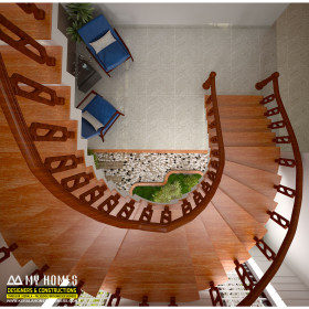 kerala style staircase design from my homes interiors