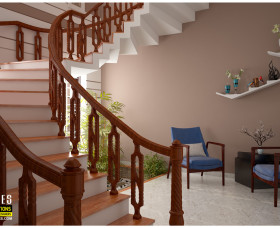 staircase designs in kerala