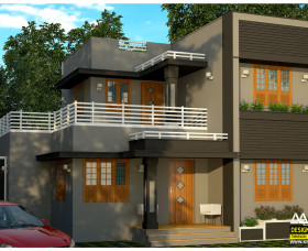 Contemporary style low budget 3 bedroom house plans