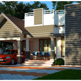 contemporary 900 sq ft kerala low budget house designs