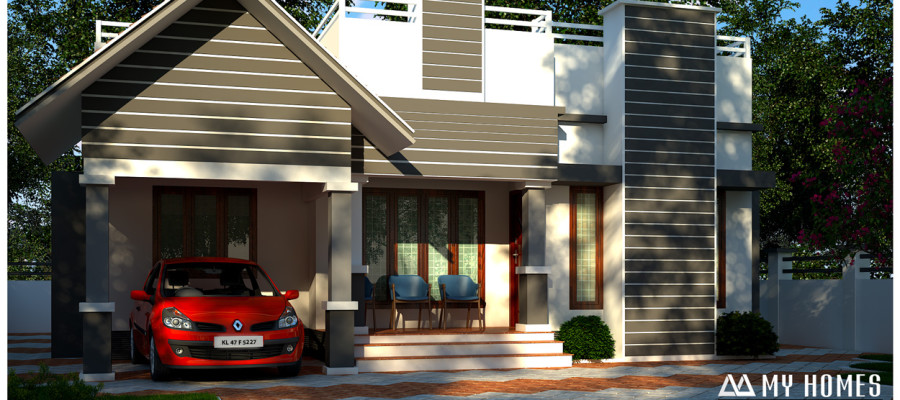 3 bhk contemporary style low budget home design in kerala