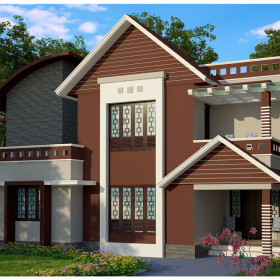 1700 sq ft  modern low budget house in kerala