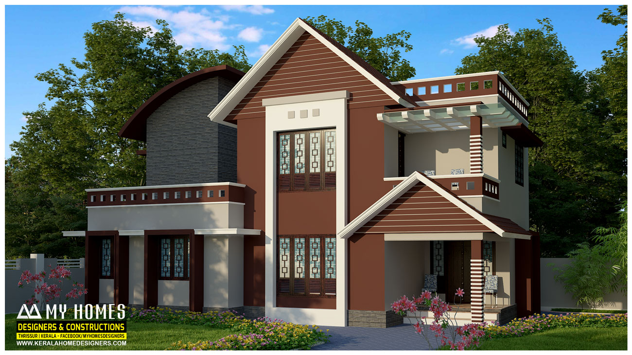 Kerala homes designs and plans photos website kerala india Low budget house plans
