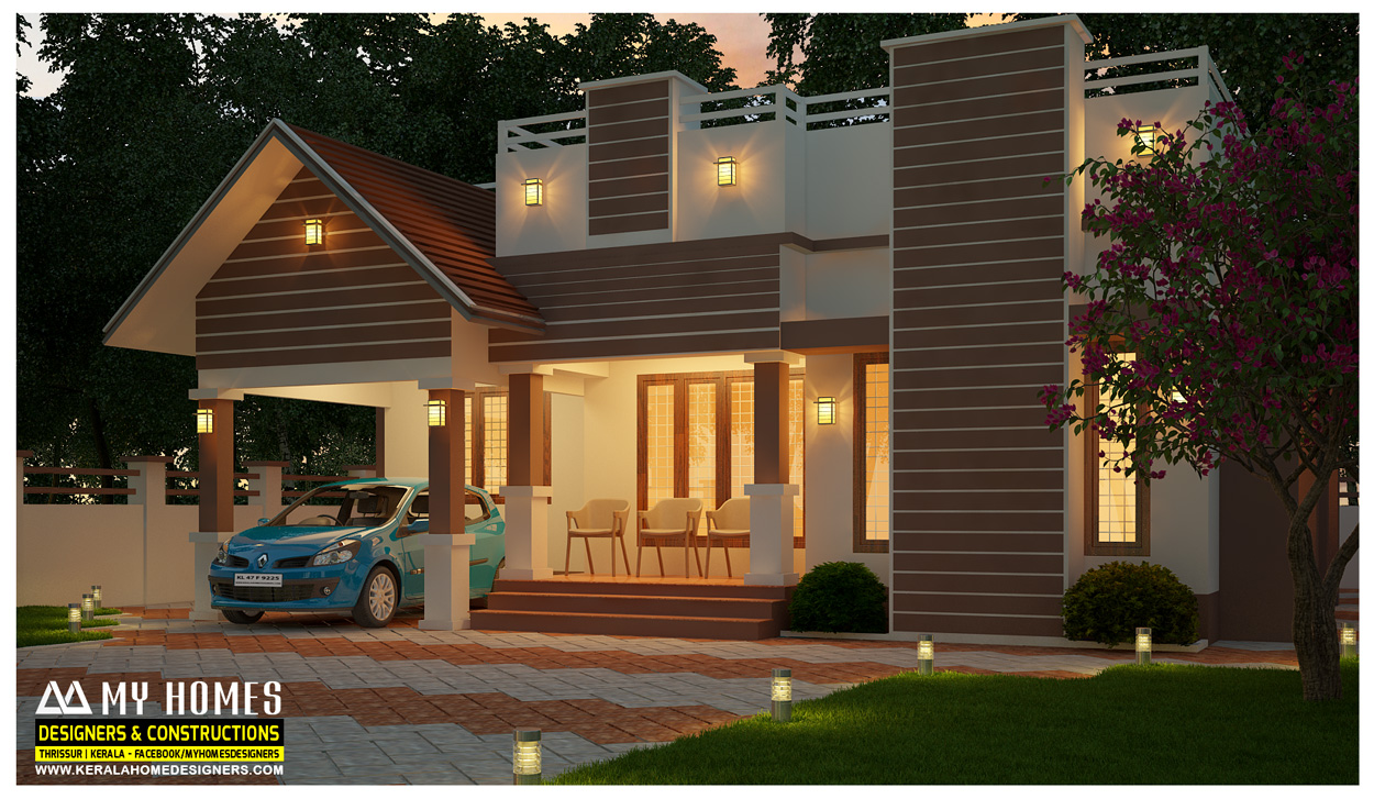 Low budget kerala home designers constructions company Low budget house plans