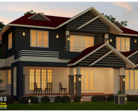 2700 sq ft new style contemporary home design kerala