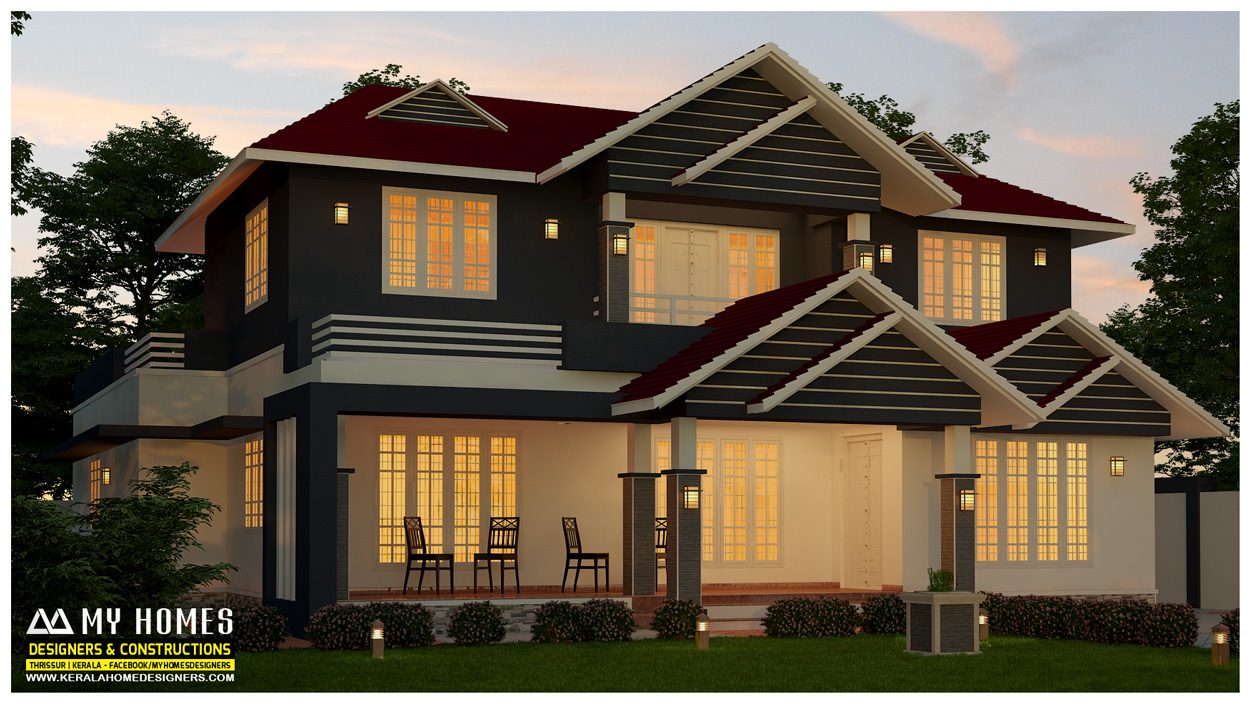 contemporary home design kerala