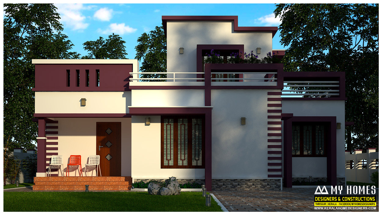 Low cost kerala home design in 730 square feet kerala Low cost home design in india