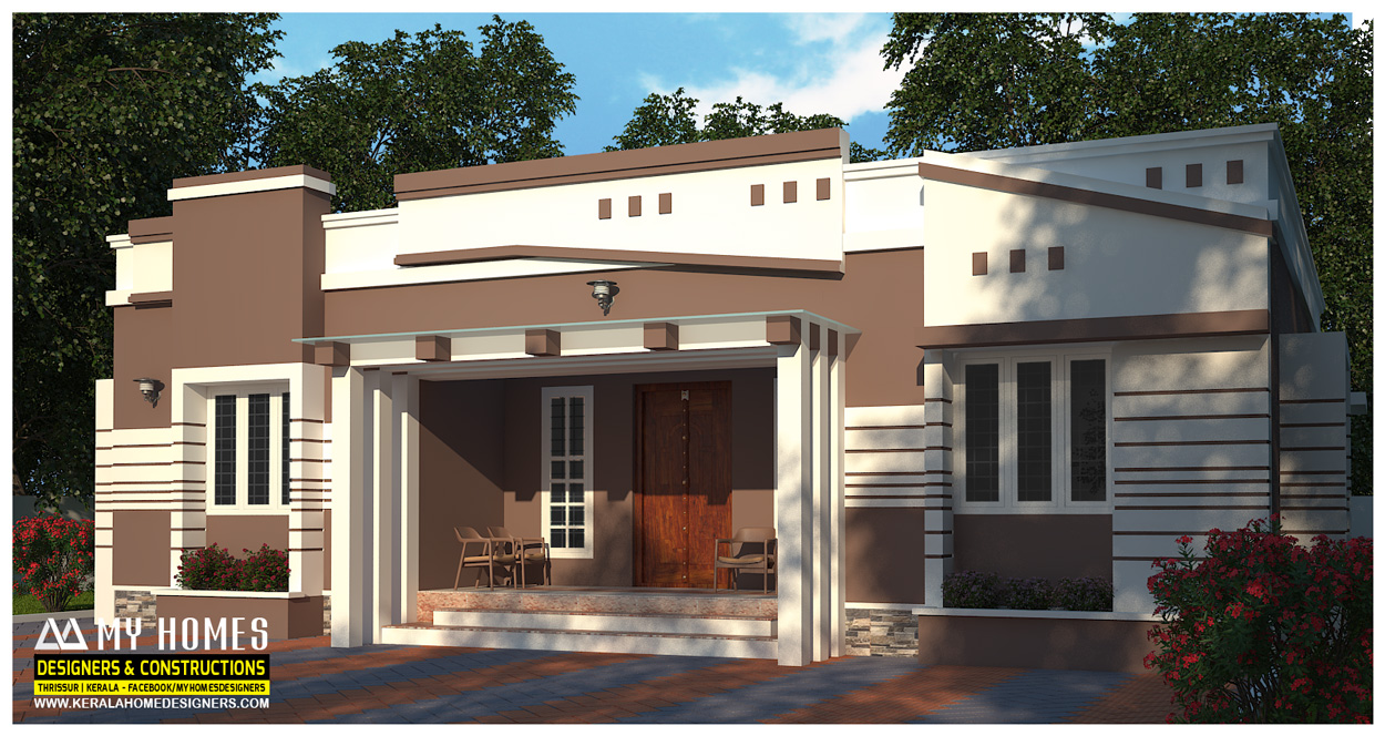 Kerala style house plans with cost for Low cost home plan