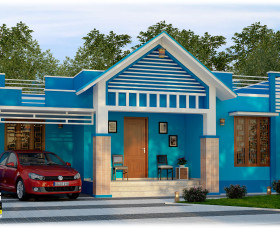 3 bhk 1515 sqft low cost house in kerala