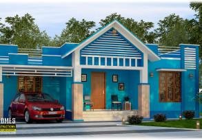 3 bhk 1515 sqft low cost house in kerala