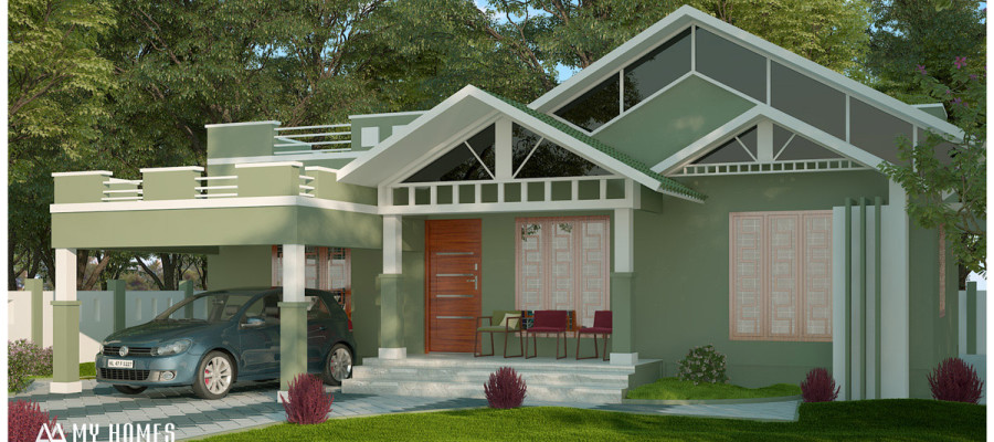 1500 sq ft 3 bedroom low cost house in thrissur