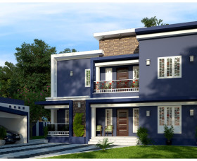 contemporary home kerala